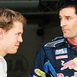 Red Bull's Sabastian Vettel and Mark Webber