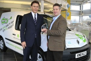 Patrick Chard, Murray's MD, collects the new vehicle
