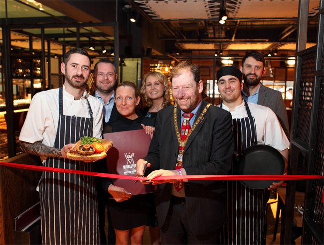 Mayor opens steakhouse and grill