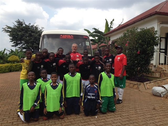 Uganda Teenagers in MK Dons Kit